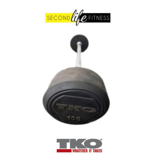 100lbs-TKO-Fixed-Straight-Bar-(Rubber)