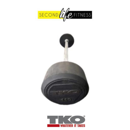 110lbs-TKO-Fixed-Straight-Bar-(Rubber)