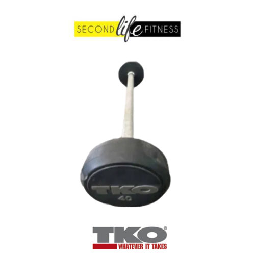 40lbs-TKO-Fixed-Straight-Bar-(Rubber)