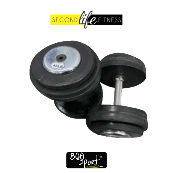 45lbs-Rubber-Dumbbell-Pair