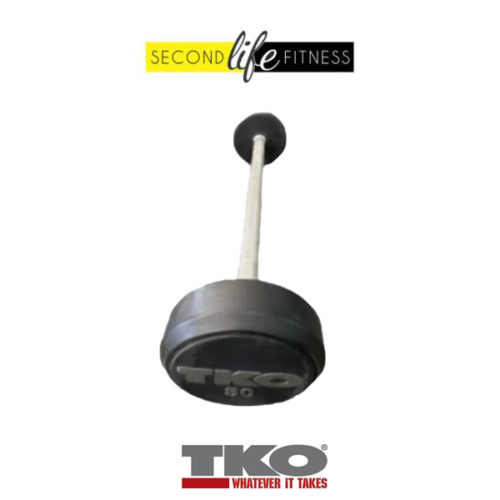 50lbs-TKO-Fixed-Straight-Bar-(Rubber)