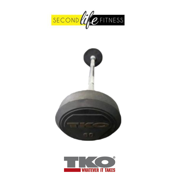 60lbs-TKO-Fixed-Straight-Bar-(Rubber)