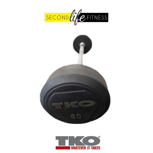 80lbs-TKO-Fixed-Straight-Bar-(Rubber)