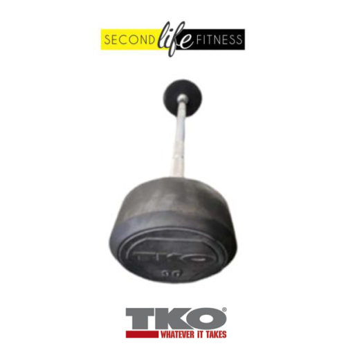 90lbs TKO Fixed Straight Bar (Rubber)
