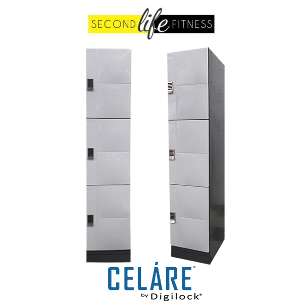 3 Tier Metal White Locker