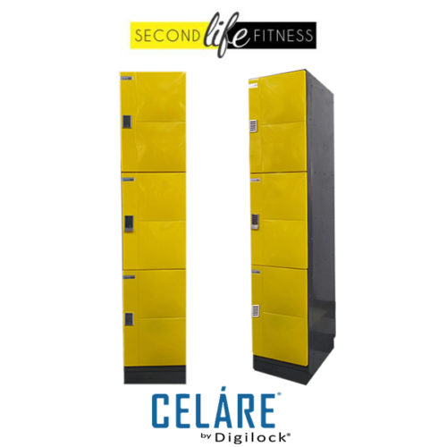 3 Tier Metal Yellow Locker