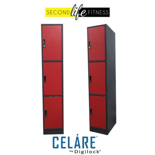 3 Tier Phenolic Red Locker