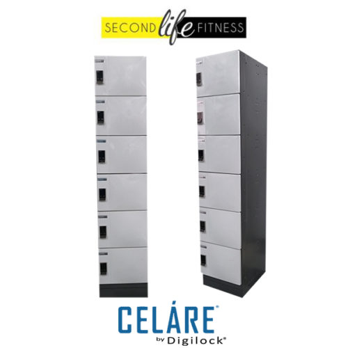 6 Tier Metal White Locker