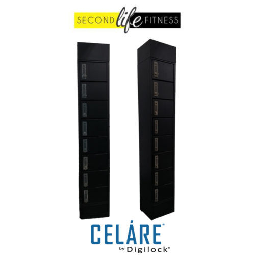 8 Tier Metal Black with charging locker