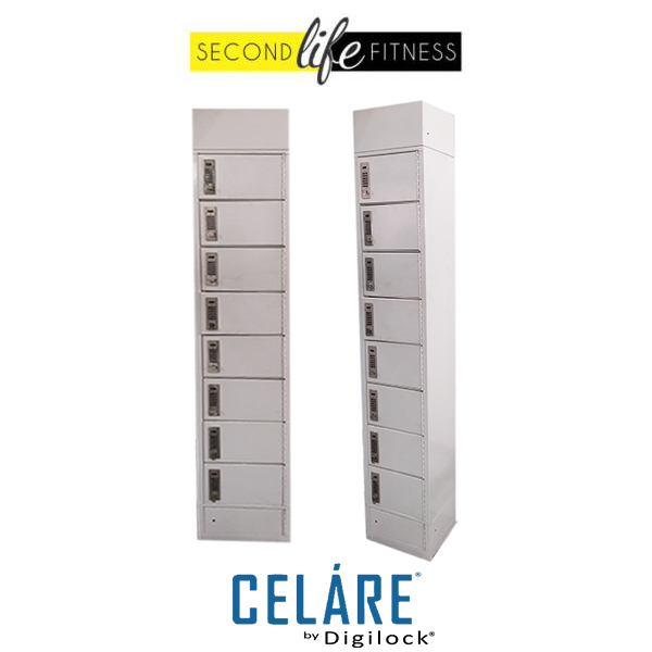 8 Tier Metal White with charging locker