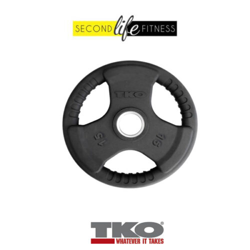 TKO TRI-Grip Rubber Olympic Plate-15-kg